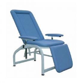 Poltrona prelievi, con portarotolo, blu | MedicoShop