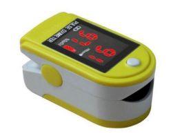 Pulsossimetro da dito per adulti, con curva di flusso, display a colori, allarme visivo e auto spegnimento