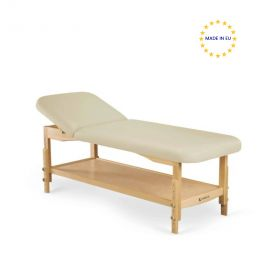 Lettino per massaggio a due sezioni, in legno chiaro