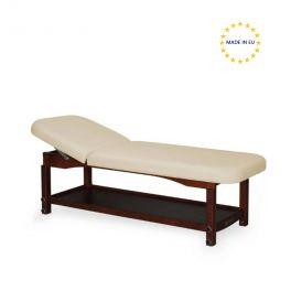 Lettino per massaggio a 2 sezioni, legno scuro   Habys