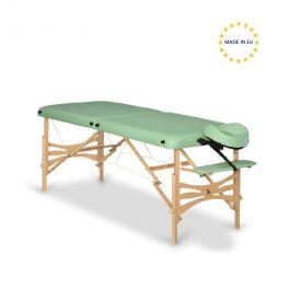 Lettino pieghevole per massaggi, in legno chiaro   Habys
