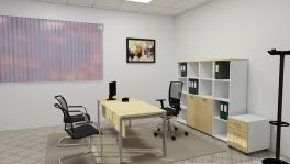 Set arredo studio medico premium, acero | MedicoShop