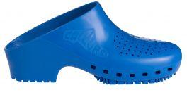 Zoccolo Calzuro Classic con fori colore azzurro