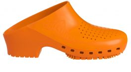 Zoccolo Calzuro Classic con fori colore arancio