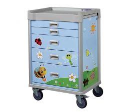 carrello terapia pediatrico