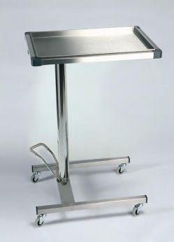 Tavolo di Mayo in acciaio inox ad altezza regolabile