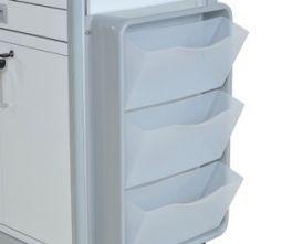 Set 3 cassetti laterali basculanti