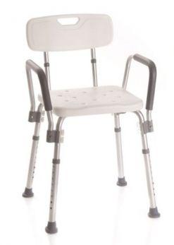 Sedile per doccia con schienale e braccioli Moretti