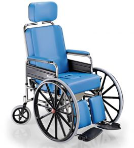 Sedia per disabili imbottita SURACE serie GRAZIA con Wc e ruote