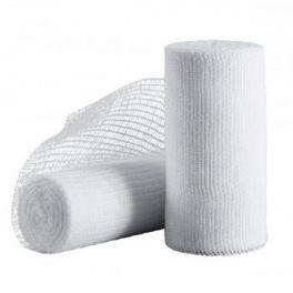 Benda di garza idrofila orlata in puro cotone Dealfa non sterile