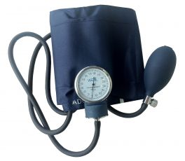 Sfigmomanometro Aneroide a 2 tubi, bracciale blu