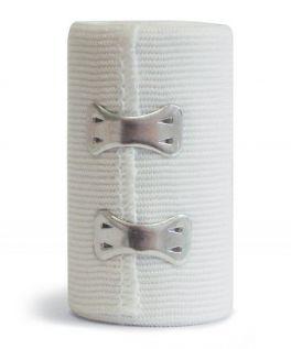 Benda elastica Eurobandage con fermagli - CF da 12 PZ