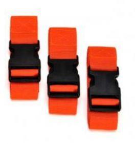 Set 3 cinture di immobilizzazione colore arancio