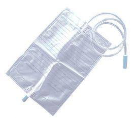 Sacca urina 2 Lt in PVC trasparente con valvola e tubo da 130 cm