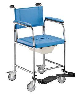 Sedia comoda 233 SURACINA con braccioli estraibili, ruote e WC