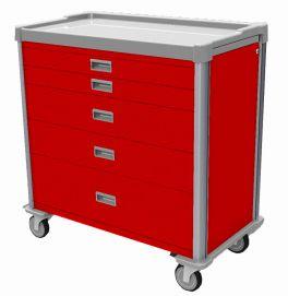 Carrello emergenza a 5 cassetti, accessoriabile | VINCAL