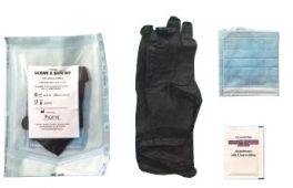 Kit di protezione mascherina guanti e disinfettante