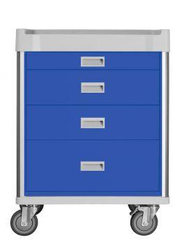 Carrello terapia a 4 cassetti - Blu