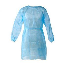 Camici protettivi, impermeabili in TNT + PE non sterili, blu