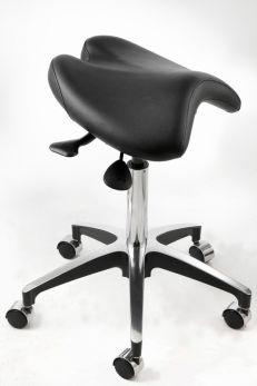 Sgabello a sella, seduta girevole regolabile | VINCAL